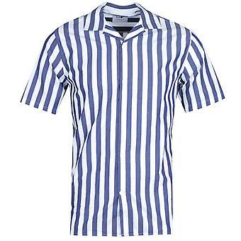 NN07 5203 Miyagi Short Sleeve Navy Striped Shirt