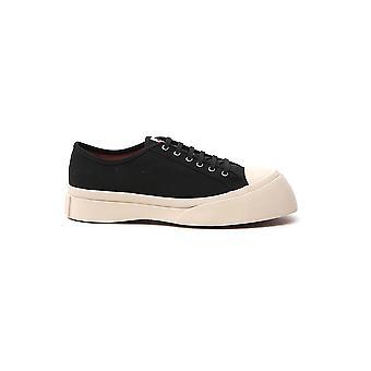 Marni Snzu002002p292600n99 Men's White/black Fabric Sneakers