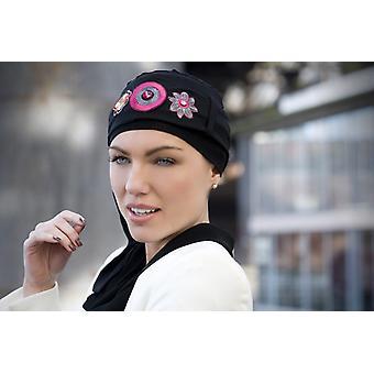 Yanna Zwarte Flamingo sjaal