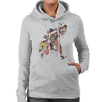 The Saturday Evening Post Liberty Girl Norman Rockwell Women's Hooded Sweatshirt