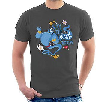 Disney Classic Aladdin Genie säger de magiska orden män ' s T-shirt