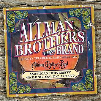 Allman Brothers Band - American University 12/13/70 [CD] USA import
