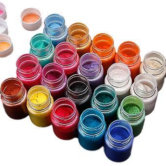 20 Colors Natural Mica Mineral Powder Pearl Pigment Bottles