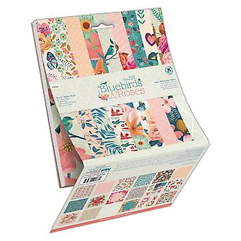 Papermania Bluebirds & Roses 6x6 Inch Paper Pad