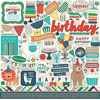 Echo Park Happy Birthday Boy 12x12 Inch Element Stickers