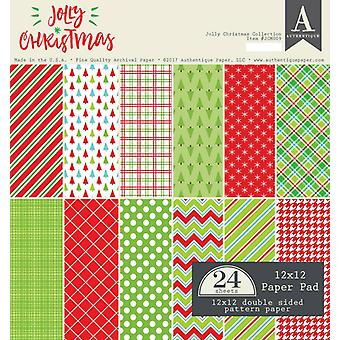 Authentique 12x12 Paper Pad Jolly Christmas