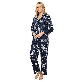 Cyberjammies Nora Rose Scarlett 1435 Women's Navy Blue Bird Print Pyjama Set