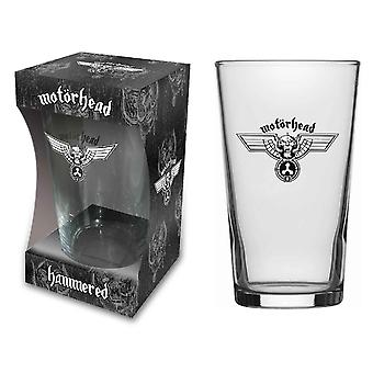 Motorhead Beer Glass Hammered Band Logo new Official  Boxed