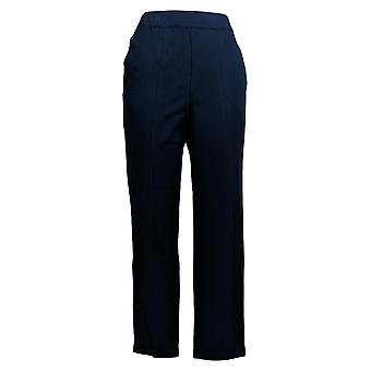 Bob Mackie Women's Pants Pull-On Ponte Ankle W/ Front Seam Blue A288445