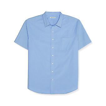 Essentials Men's Big & Tall Short-Sleeve Stripe Shirt fit by DXL, Blue...