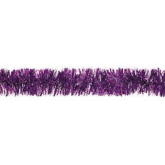 2m x 10cm lila regelmäßige Tinsel Weihnachtsbaum Dekoration