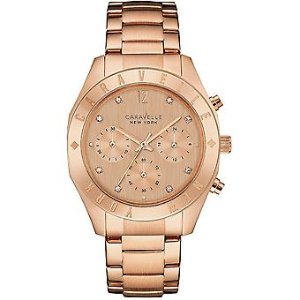 Caravelle Watch 44L189 - Plated Stainless Steel Ladies Quartz Chronograph