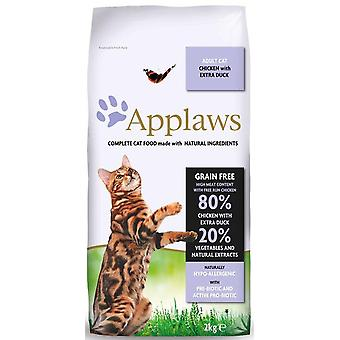 Applaws Dry Adult Cat - Kip & Eend - 2kg