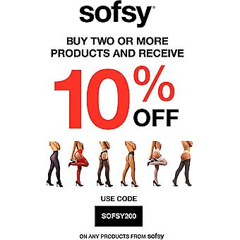 sofsy Opaque Microfibre Tights for Women - Invisibly Reinforced Opaque Brief ...