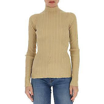 Acne Studios A60145sandbeige Women's Beige Cotton Sweater