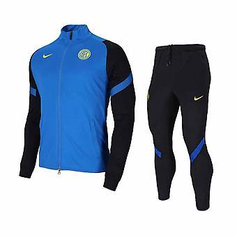 2020-2021 Inter Milan Nike Torr Squad Träningsoverall (Blå)