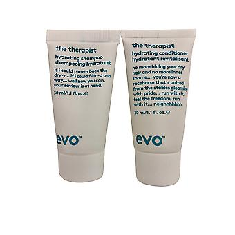 evo De Therapeut Hydraterende Shampoo & Conditioner Set 1.1 OZ Elk