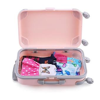 3d Travel Train, Suitcase, Luggage Play House Toy- Doll Accessories Plastic