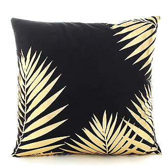 YANGAN Black Background Bronzing Print Creative Pillowcase