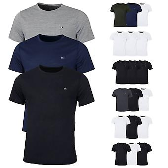 Calvin Klein Mens 2020 3-Pack CK Breathable Wicking Crew Performance T-Shirt
