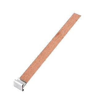 40pcs נר פתיל עץ עם ליבת פתיל נר לשונית מקיימת עבור נר DIY