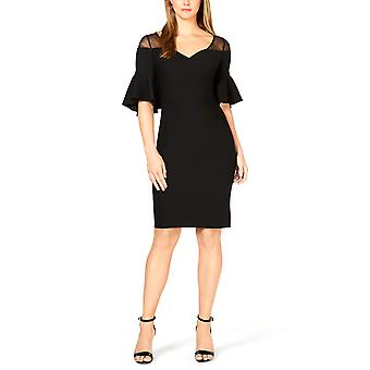 | Calvin Klein Illusion Yoke Cocktail Dress