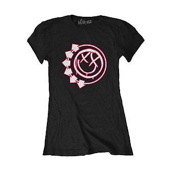 Women's Blink-182 Six Arrow Smiley Varustettu T-paita
