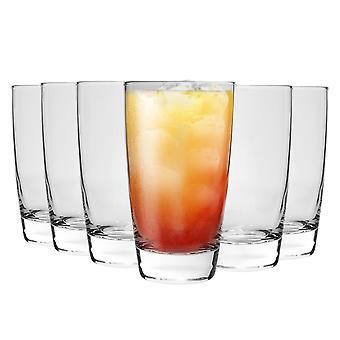 Bormioli Rocco Nadia Highball Cocktail Glasses Set - 455ml (15 1/2 oz) - Pack de 8