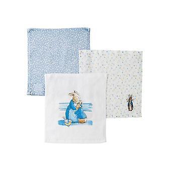 Beatrix Potter Peter Rabbit Face Cloths - Set of 3