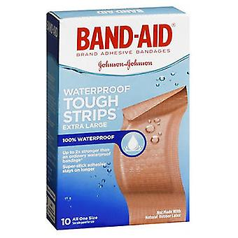 Band-Aid Tough-Strips 100% Waterproof Adhesive Bandages Extra Large, 10 each