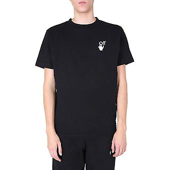 Off-white Omaa027f20fab0091001 Men's Black Cotton T-shirt