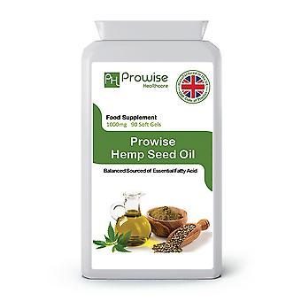 Hemp Seed Oil 1000mg 90 Soft Gels Capsules | UK Made