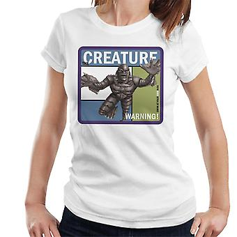 The Creature From The Black Lagoon Warning Women's T-Shirt