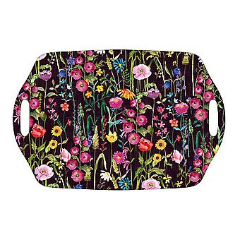 Home Living Meadow Black Tea Tray HH2156