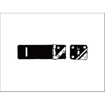 Securit Safety Hasp and Staple Light Black 100mm S1452