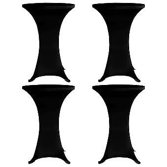 Standing table coughs 4 pcs. x 60 cm Black Stretch