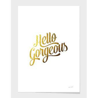 Hello Gorgeous Gold Frame