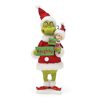 Department 56 Naughty Or Nice Grinch Ornament