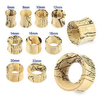 0 mittari (8MM ) Kaksinkertainen levenevä orgaaninen orgaaninen luonnollinen tamarind-puumittaritunnelin korvatulppa