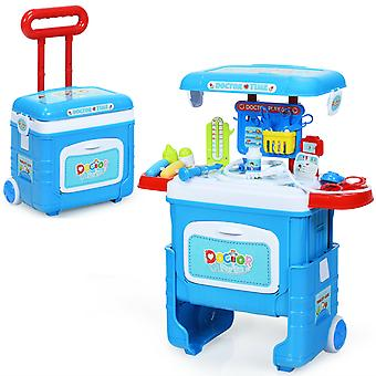 2-In-1 Medical Play Set Kids Doctor Suitcase Portable Surgeon Role Pretend Toy