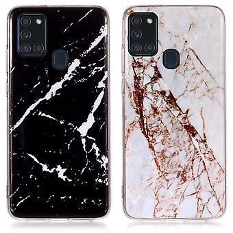 Samsung Galaxy A21s - Kuori / Suojaus / Marmori