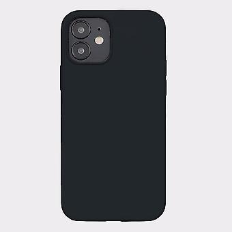 Black iphone 12 mini soft silicone case