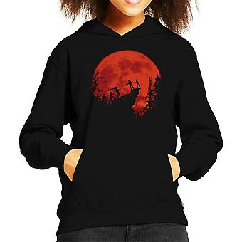 The Last Of Us The Infected Cliff Silhouette Kid's Hooded Sweatshirt