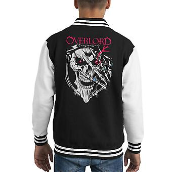 Overlord Ainz Ooal Gown Face Kid's Varsity Jacket