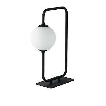 Fan Europe Neutron - Globe Frame Table Lamp, Black Opal, G9