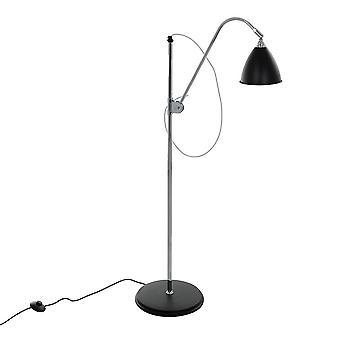 Lámpara de pie clásica negro 1 luz , E14