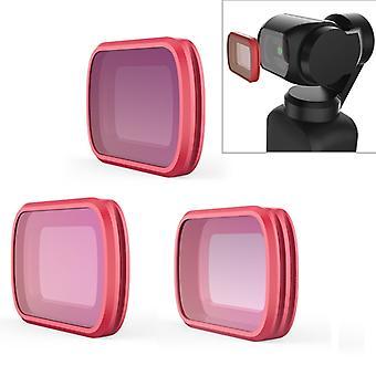 3 STÜCKE PGYTECH P-18C-012 CPL/ND8/ND16 Beruf Tauchen Farbobjektiv Filter für DJI Osmo Tasche