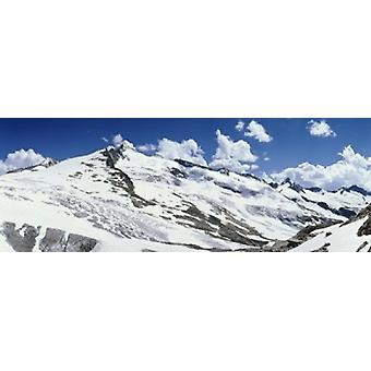 Snowcapped mountains Grossvenediger Salzburg Austria Poster Print