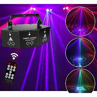 Disco Dj Lampada Dmx Telecomando Strobo Stage Light Party Proiettore