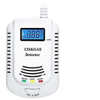 2 În 1 Detector de gaz, Plug-in Home / Metan / Propan / Alarmă, Senzor de scurgere cu